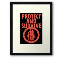 Protect And Survive Boy Framed Print