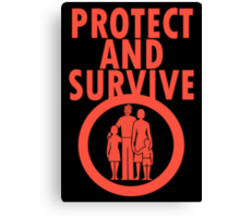 Protect And Survive Boy Canvas Print