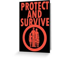 Protect And Survive Boy Greeting Card