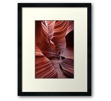 Rattlesnake Canyon curves Framed Print