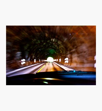 God bless artist and one hand driving a car in the tunell  photographers & freakes like Brown Sugar.  Thank you My Lord ! 4 my life ! Amen . Photographic Print