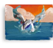 Lugia and sunset Canvas Print