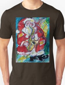 SANTA AND SAX, CHRISTMAS PARTY Unisex T-Shirt