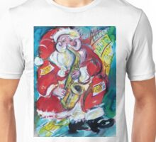 SANTA AND SAX, MUSICAL CHRISTMAS PARTY Unisex T-Shirt