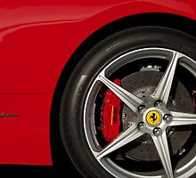 Ferrari Wheel Emblem 3 by Jill Reger