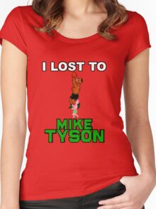 I lost to Mike Tyson Women's Fitted Scoop T-Shirt