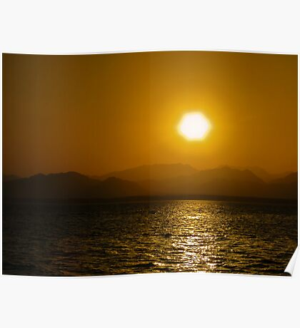 Sunset over the Sinai...... Poster