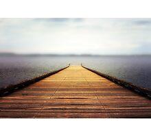 Foggy pier Photographic Print