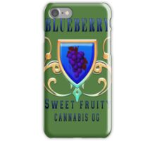 Weed blueberry  sweet fruity gifts iPhone Case/Skin