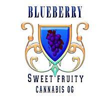 Weed blueberry  sweet fruity gifts Photographic Print