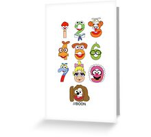 Muppet Babies Numbers Greeting Card