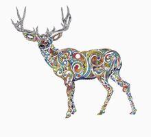 Third Eye Deer One Piece - Short Sleeve