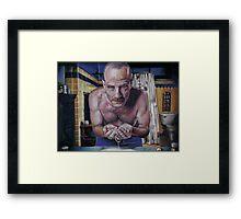 """Walter """"Heisenberg"""" White Framed Print"""