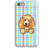 Cocker Spaniel Pretty Plaid iPhone Case/Skin