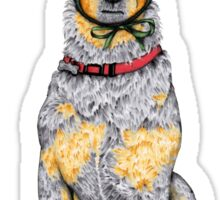 "Australian Cattle Dog, Blue Heeler, ""Bah Humbug"" Sticker"