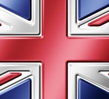 British Union Jack Flag 2 - UK - Metallic Sticker