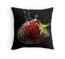 Strawberry Bubbly. Throw Pillow