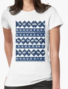 Blue Xmas Womens Fitted T-Shirt