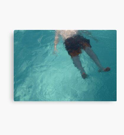 Pool Feet Canvas Print