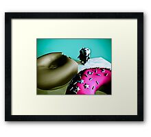 Doughnuts and Toy Robot 02 Framed Print