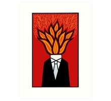 Hot head Art Print