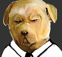 Stern Shirted Dog by springly