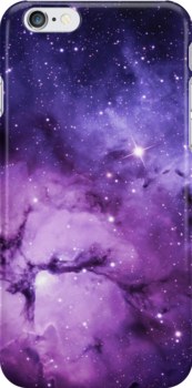Purple Space - iPhone Case by LewisJamesMuzzy