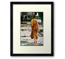 Novice Monk Framed Print