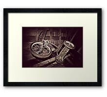 The Old Tricycle  Framed Print