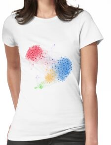 The Graph Of A Social Network Womens Fitted T-Shirt