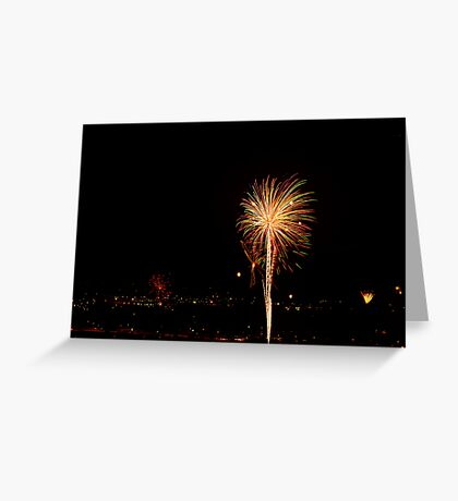 Multi-colored Burst Greeting Card