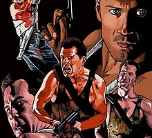 Die Hard Movie Collection Bruce Willis by Spadaro