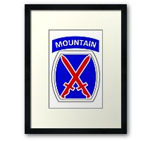 10th Mountain Division Logo Framed Print