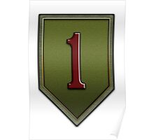 The Big Red One Insignia Poster