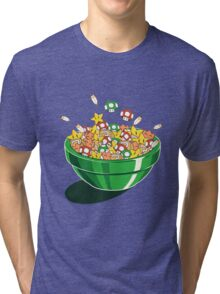 Mario Bros. Power Up Cereal Tri-blend T-Shirt