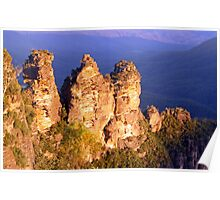Evening Light on The Three Sisters Poster