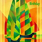 Happy Birthday Chinese Junks, Sunset, Sails and Shadows by taiche