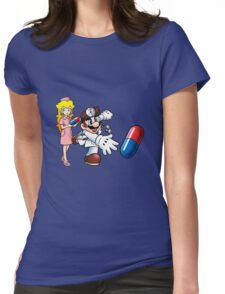 Dr. Mario and Nurse Toadstool Womens Fitted T-Shirt