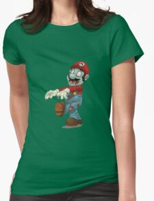 Zombie Mario Womens Fitted T-Shirt
