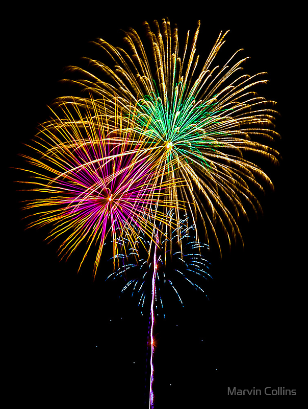 Fireworks - 4th of July by Marvin Collins