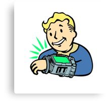Fallout Franchise | Vault Boy using Pipboy | Logo Canvas Print