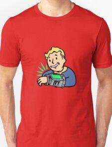 Fallout Franchise | Vault Boy using Pipboy | Logo T-Shirt