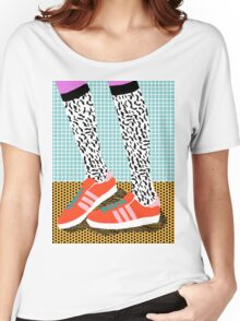 Spiffy - shoes art print memphis design style modern colorful california socal los angeles brooklyn hipster art pattern  Women's Relaxed Fit T-Shirt
