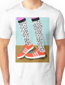 Spiffy - shoes art print memphis design style modern colorful california socal los angeles brooklyn hipster art pattern  Unisex T-Shirt