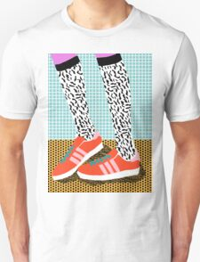 Spiffy - shoes art print memphis design style modern colorful california socal los angeles brooklyn hipster art pattern  T-Shirt