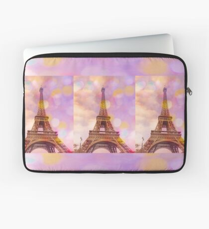 Eiffel Tower Sunset Laptop Sleeve