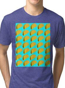 Taco Emoji Pattern Tri-blend T-Shirt