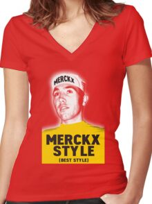 Merckx Style (best style) Women's Fitted V-Neck T-Shirt