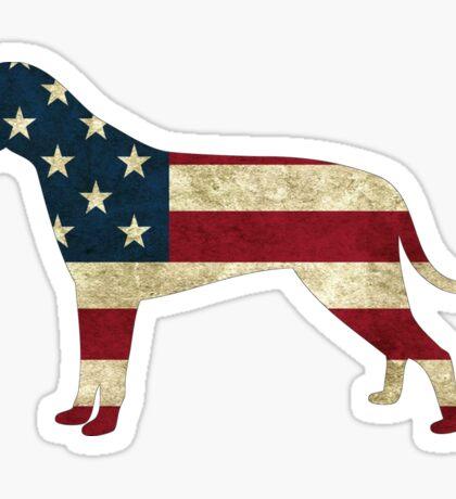 American Flag dog Sticker