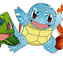 Bulbasaur, Charmander and Squirtle - Art by FinleyG